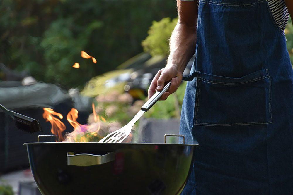 Flæskesteg på grill